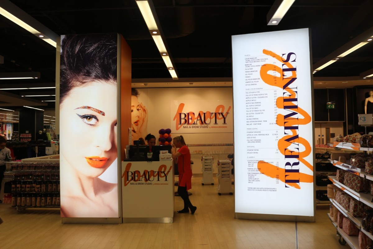 Love Beauty Salon At Primark, Manchester
