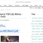 Featured (x 4) on MissBehaver fashion website