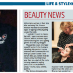 Photographed in Manchester Evening News Beauty News, February 2013