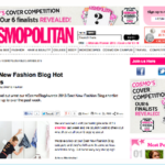 Shortlisted Best New Fashion Blog in Cosmopolitan Blog Awards 2013
