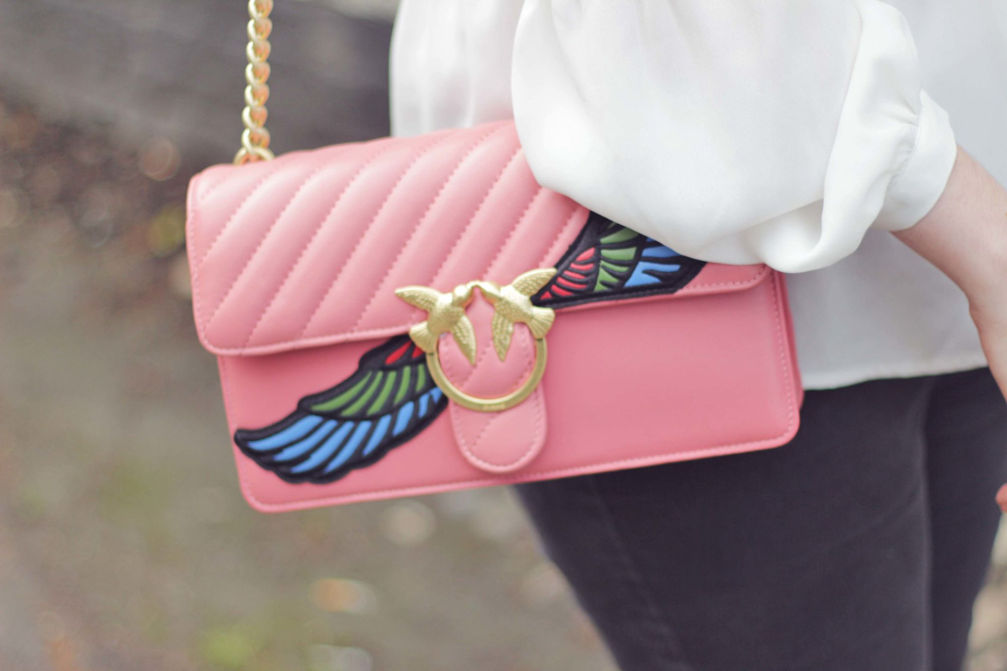 Pinko Love Wings Shoulder Bag Summer S Statement Handbag